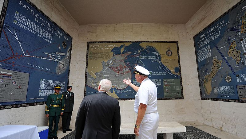 Maps in the Memorial in the American Military Cemetery, Manila (images)