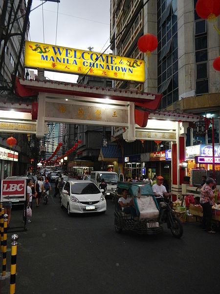 Welcome sign to Chinatown/Binondo, Manila (image)