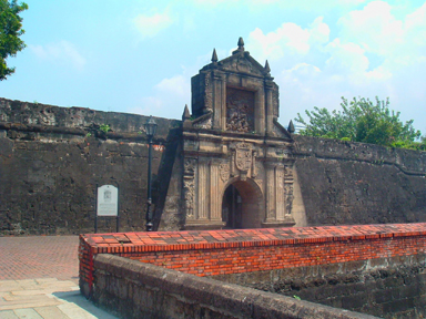 Fort Santiago gate, Intramuros, Manila (image)