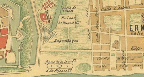 Map of Luneta, 1898 (image)
