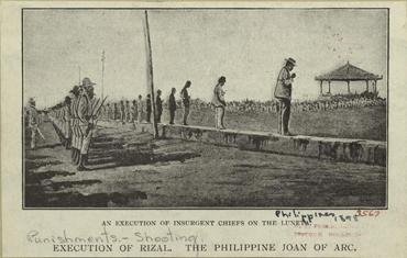 Executions in Bamumgayan (Luneta), 1890s (image)
