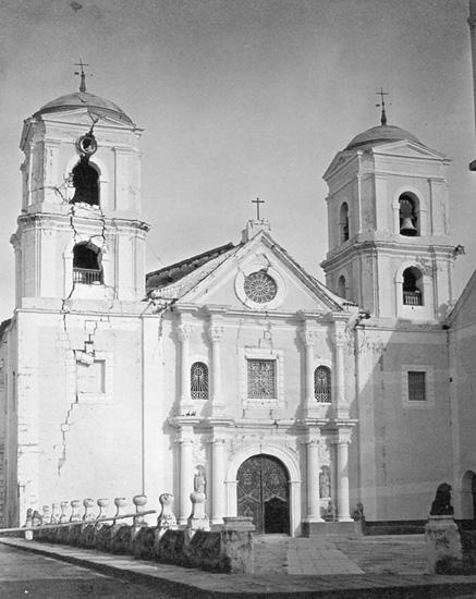 San Agustin Church, Manila, after 1883 earthquake (image)