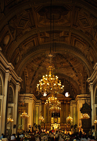 Interior of San Agustin Church, Manila, 2008 (image)