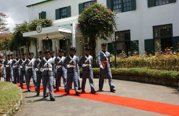 Cadets marching at PMA image