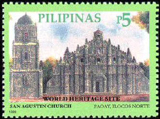 San Agustin church postage stamp image